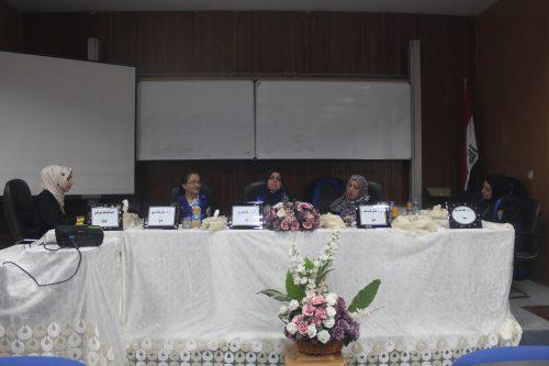 مناقشة طالبة الدبلوم الصيدلانية هبة منير فيصل