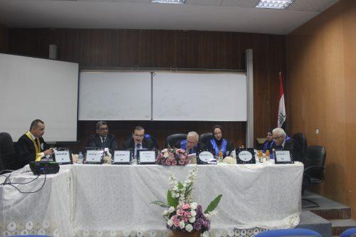 مناقشة  لطالب الدكتوراه الصيدلاني الاختصاص صفاء فاخر